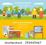 pensioners life style... | Shutterstock .eps vector #293445467