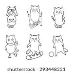 set of vector illustration with ... | Shutterstock .eps vector #293448221