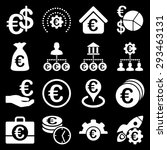 euro banking business and... | Shutterstock .eps vector #293463131
