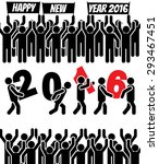 2016 icon man happy new year | Shutterstock . vector #293467451