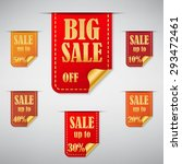 big sale stickers and tags.... | Shutterstock .eps vector #293472461