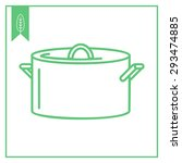 icon of saucepan with cover  | Shutterstock .eps vector #293474885