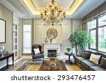 luxury living room interior  | Shutterstock . vector #293476457
