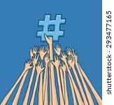cartoon illustration of arms... | Shutterstock .eps vector #293477165