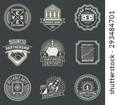 financial business insignias... | Shutterstock .eps vector #293484701