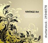 vector ornament in flower style | Shutterstock .eps vector #29348578
