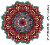 abstract ethnic ornate... | Shutterstock .eps vector #293486531