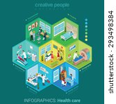 flat 3d isometric health care... | Shutterstock .eps vector #293498384