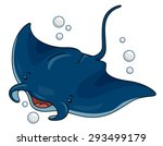 cutesy illustration of a manta... | Shutterstock .eps vector #293499179