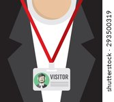 flat design visitor pass vector ...