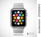 modern shiny smart watch with... | Shutterstock .eps vector #293500691