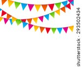 party background with flags ... | Shutterstock . vector #293502434