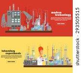 scientific horizontal banners.... | Shutterstock .eps vector #293505515