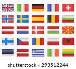 set of european countries flags | Shutterstock .eps vector #293512244