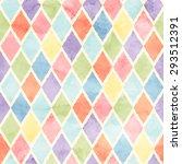 rhombus watercolor pattern   Shutterstock .eps vector #293512391