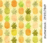 watercolor pineapple seamless...   Shutterstock .eps vector #293517869