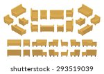 set of the isometric yellow... | Shutterstock .eps vector #293519039