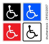 disabled sign. handicapped... | Shutterstock .eps vector #293522057