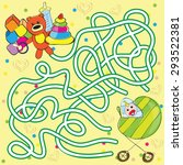 vector maze for kids   help the ... | Shutterstock .eps vector #293522381