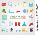 set of healthy icon | Shutterstock .eps vector #293522465