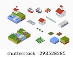isometric landscape of... | Shutterstock .eps vector #293528285