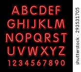 neon glow alphabet. vector... | Shutterstock .eps vector #293531705