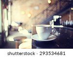 Cup Of Tea At A Cafe Blurred...