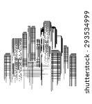 vector design   eps10 building... | Shutterstock .eps vector #293534999