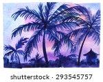 Balinese Evening. Tropical...