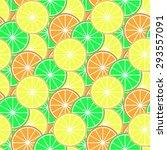 vector background with lemons... | Shutterstock .eps vector #293557091