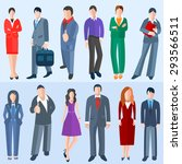 set men and women of business... | Shutterstock .eps vector #293566511