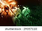 illustration of golden ear ring ... | Shutterstock . vector #29357110
