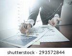close up of businessman hand... | Shutterstock . vector #293572844