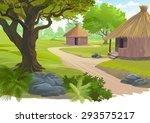 village scene | Shutterstock .eps vector #293575217