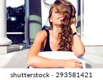 fashion lifestyle portrait of... | Shutterstock . vector #293581421
