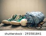 concept still life hipster man  ... | Shutterstock . vector #293581841