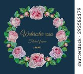 vector floral frame with... | Shutterstock .eps vector #293583179