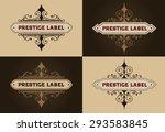 set logos template. brand sign  ... | Shutterstock .eps vector #293583845