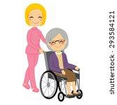 senior patient woman in... | Shutterstock .eps vector #293584121