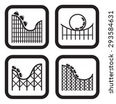 roller coaster icon in four... | Shutterstock .eps vector #293584631