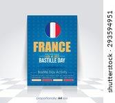 a4 style bastille day... | Shutterstock .eps vector #293594951
