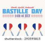 14th july bastille day of... | Shutterstock .eps vector #293595815