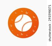 water drops on button. baseball ... | Shutterstock .eps vector #293598071