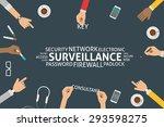 vector surveillance concept... | Shutterstock .eps vector #293598275