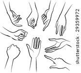 lady hands vector | Shutterstock .eps vector #29359972
