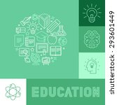 vector education concepts in... | Shutterstock .eps vector #293601449