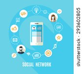 vector illustration of social... | Shutterstock .eps vector #293602805