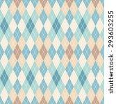 argyle seamless pattern. retro... | Shutterstock .eps vector #293603255