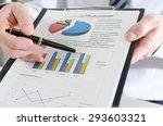 businessman showing financial... | Shutterstock . vector #293603321