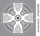 celtic cross   Shutterstock .eps vector #293605385
